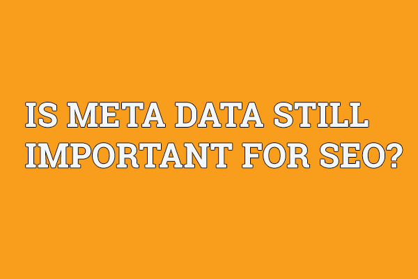 IS META DATA STILL IMPORTANT FOR SEO?