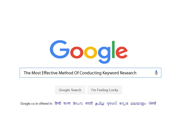 The Most Effective Method Of Conducting Keyword Research