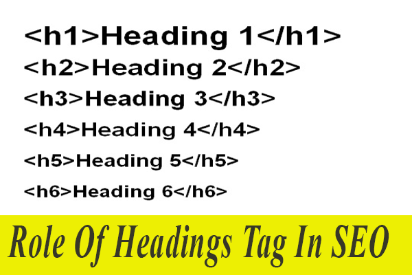 What is the Role of headings H4, H5 and H6 have for SEO?