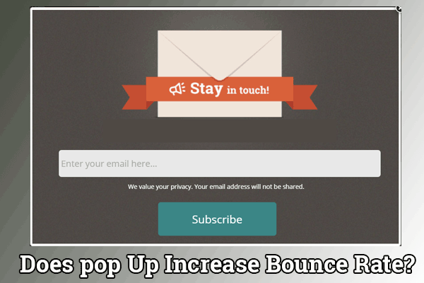 Does pop Up Overlay Increase Bounce Rate?