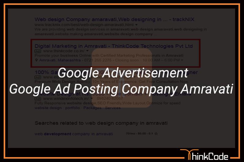 Google Ads In Amravati | Google Advertisement | Google Ad Posting Company Amravati