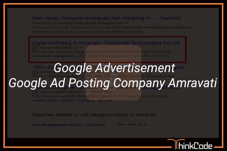 Google Ads In Amravati | Google Advertisement | Google Ad Posting Company Amravati