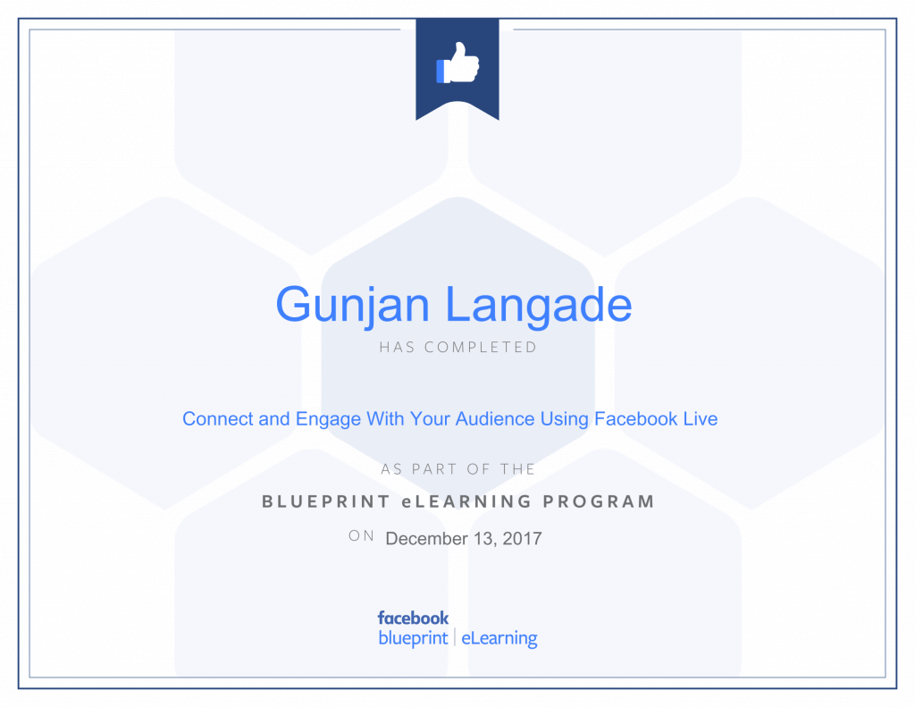 Connect and Engage with your audience using Facebook Live By Gunjan Langade at ThinkCode