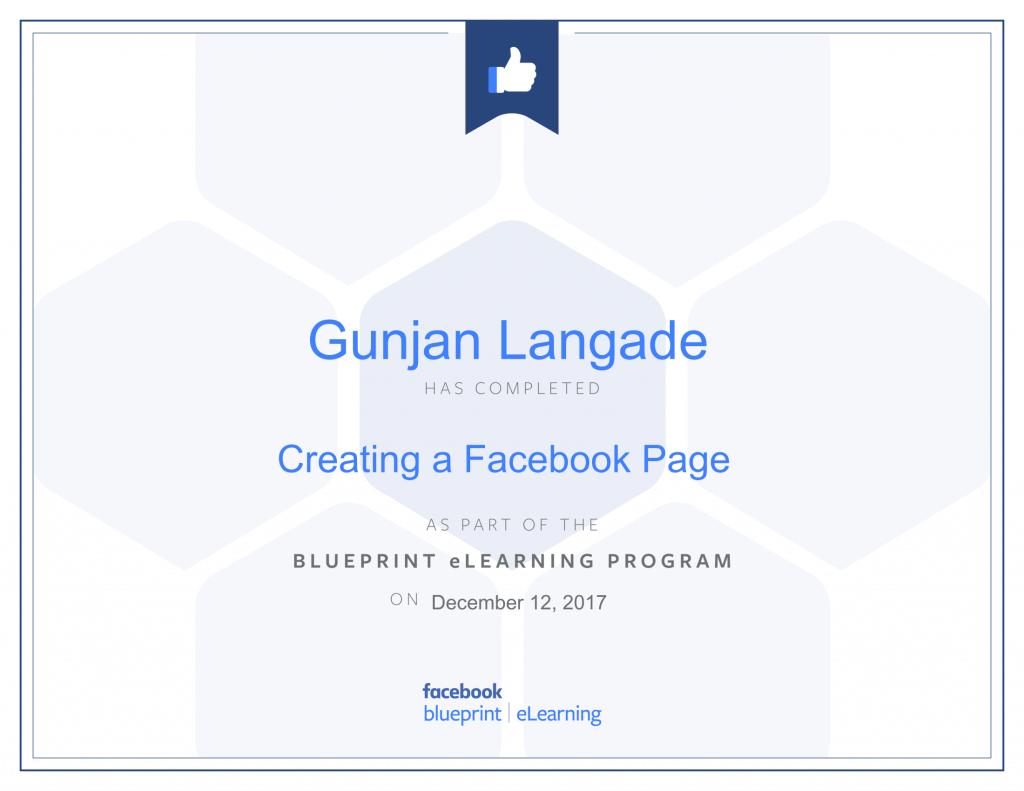 Creating a Facebook Page By Gunjan Langade at ThinkCode