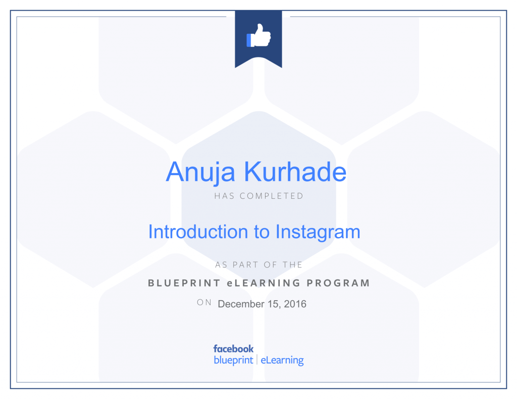 Facebook Certified Advertiser-Anuja Kurhade -thinkcode