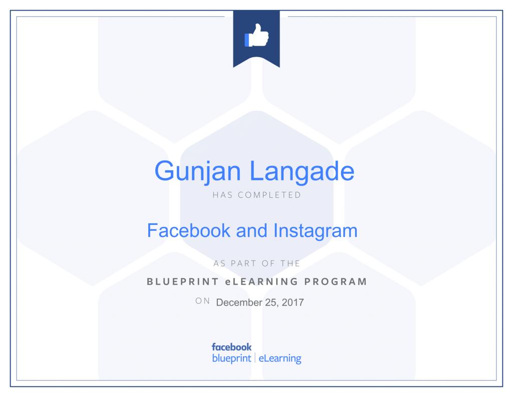Facebook and Instagram By Gunjan Langade at ThinkCode