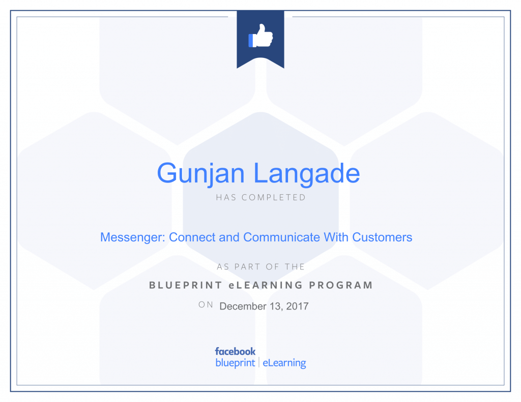 Messenger Connect and Communicate with Customer By Gunjan Langade at ThinkCode