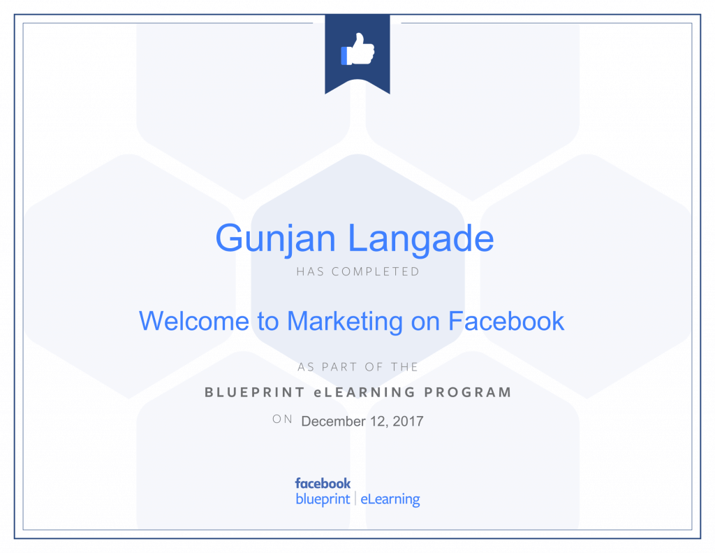 Welcome to Marketing On Facebook By Gunjan Langade at ThinkCode