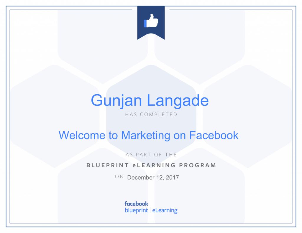 Welcome to Marketing On Facebook By Gunjan Langade at ThinkCode